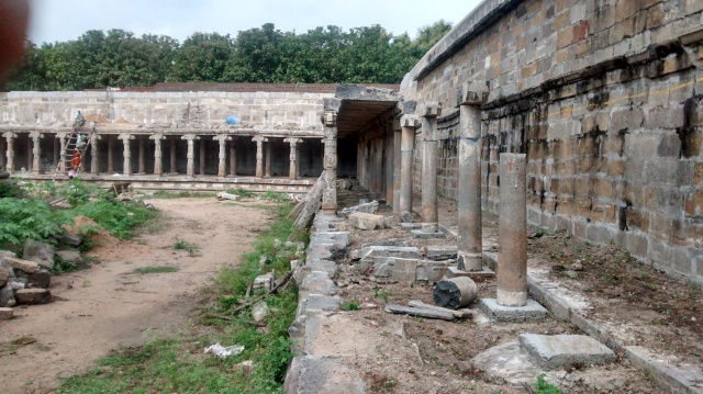 The pillared pragara in dilapidated condition