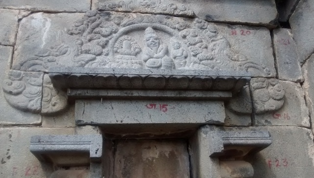Pennalur Siva Temple - Lingam worshipped-sculpture-outside wall