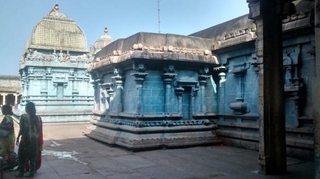 19. Tirukkadaiyur temple- inner prakara on RHS