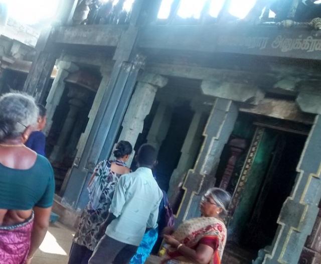 22. Tirukkadaiyur temple- backside- Yama punished by Shiva