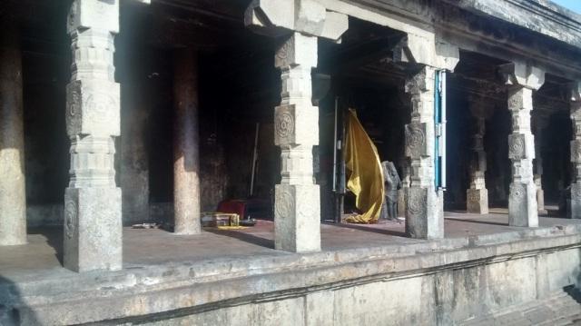 23. Tirukkadaiyur temple- backside many murtis kept in veliprakaram