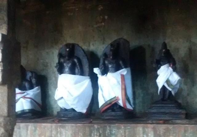 27. Tirukkadaiyur temple- Idols-murthis kept on RHS.3
