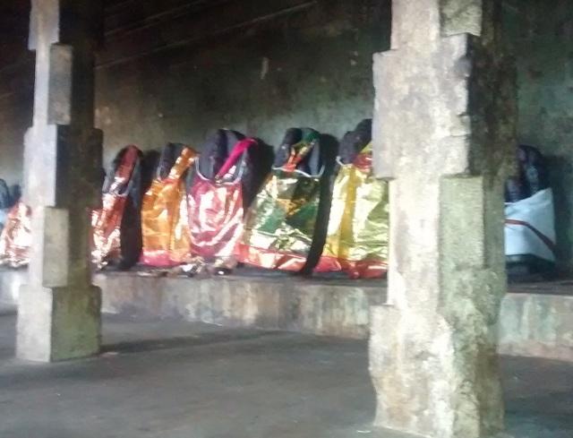 31. Tirukkadaiyur temple- Idols-murtis of Sapta mathas  in veliprakaram RHS.1
