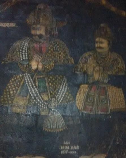 35. Tirukkadaiyur temple- Tanjore Maharaja paining