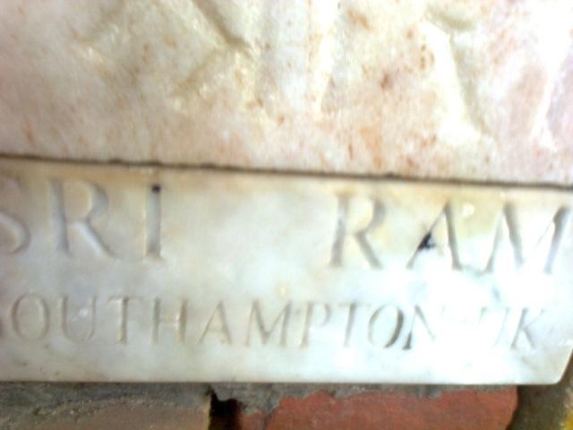 10. RJM - brick brought from UK