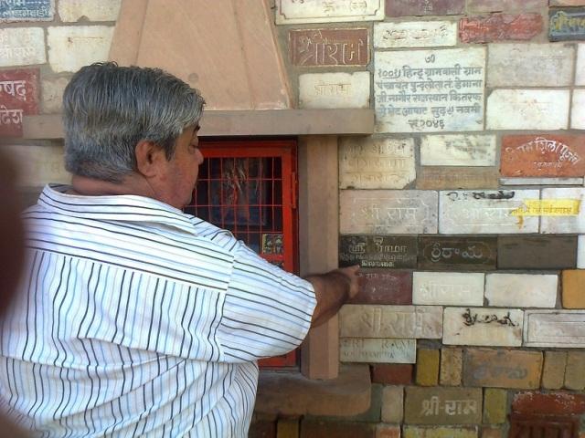 11. RJM brick brought from Sri Lanka, KVR pointing