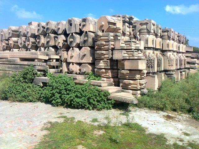14. Ramjanmabhumi Naya Mandir - Pillars are ready