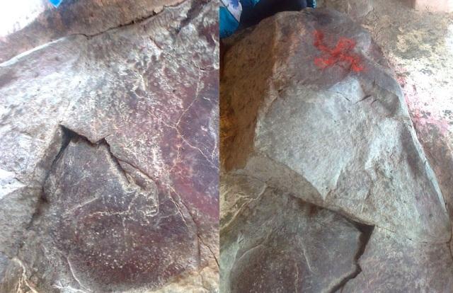16. போஜன் தாலி - பாறைகளில் காணப்படும் அமைப்புகள்