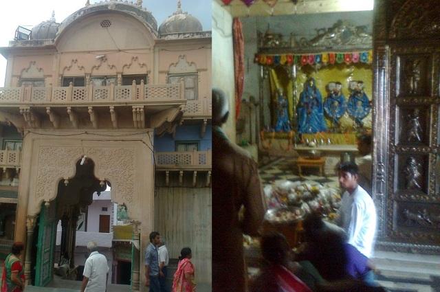 23. நந்தகாவ் கோவில்- உட்புறம் மற்றும் ஶ்ரீராதா-கிருஷ்ணர்
