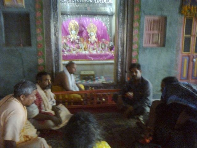 30. Ayodhya-Swamijis  inside Krishna mandir