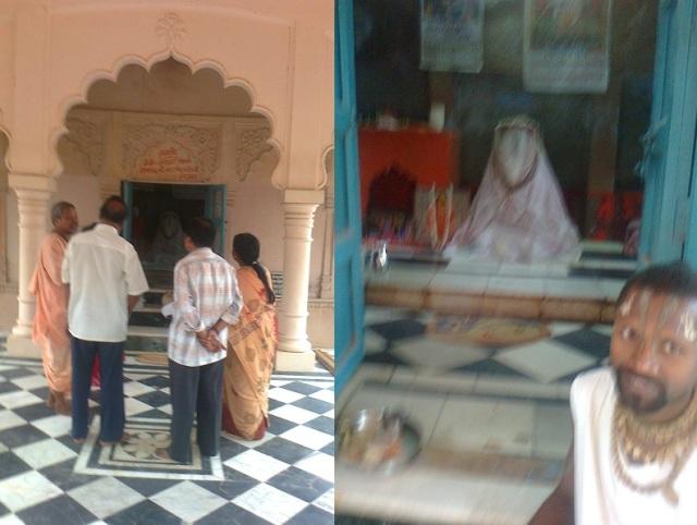 9. ஶ்ரீசனாதன் கோஸ்வாமியின் சமாதி, உட்புறம்.சமாதி விக்கிரகம்