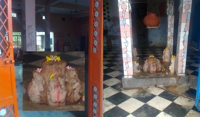 8. காமேஸ்வர் மஹாதேவ் கோவில் உள்ளேயிருக்கும் சதுர்முக-சிவலிங்கம்.