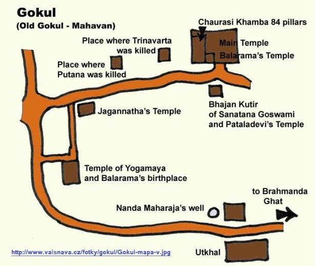 கோகுலம் - சௌரஸி கம்ப கோவில், சனாதனகோஸ்வாமி பஜன் குடிர்