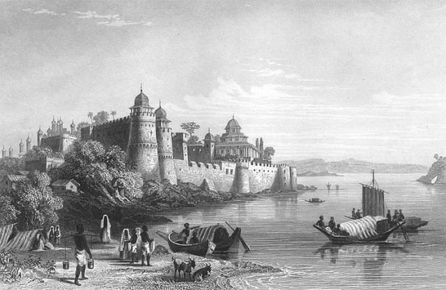 Fort_of_Akbar,_Allahabad,_1850s