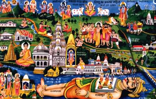 Guyasur.s Body Becomes the Landscape of Gaya Kshetra