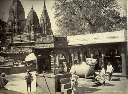Gyanvapi Nandi facing mosque - yet another view.