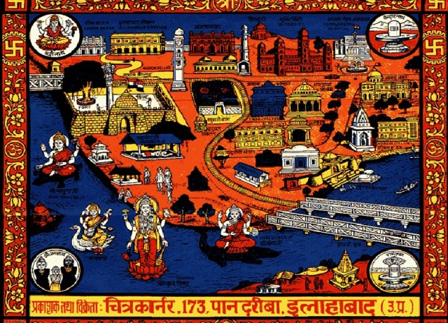 Prayag important places depicted pictorially
