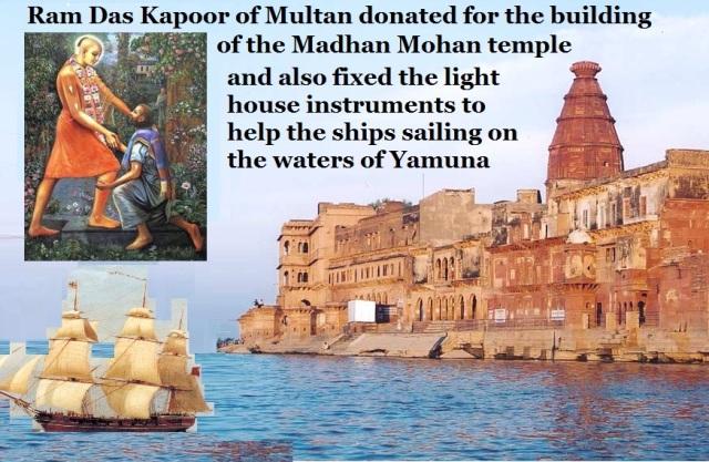 11. Ramdas Kapoor Multan helped to the temple