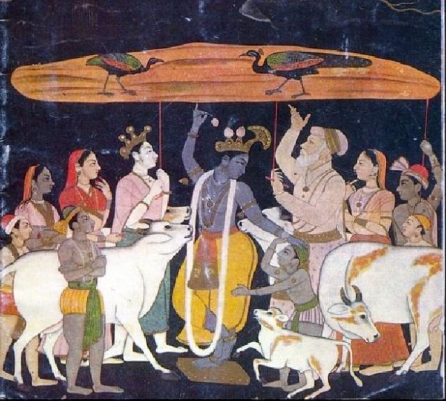 13.1. பங்கி அல்லது திருபுங்க நிலை - கிருஷ்ணர் கோவர்த்தன மலை