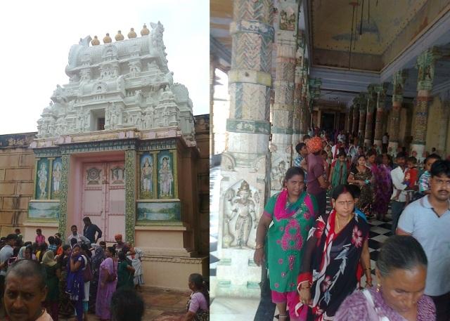 5. விருந்தாவனம் -  ரங்கநாத கோவில் உள்ளே சுற்றிவரும் பக்தர்கள்