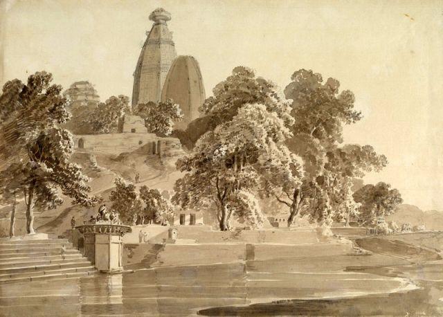 9. Madan_Mohan_temple,_on_the_Yamuna,_Vrindavan,_1789
