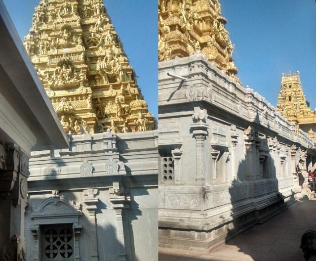 முருடேஸ்வர் - கோவில் வளாகம் - மூலவர் சன்னிதியின் வெளிப்புரத் தோற்றம்