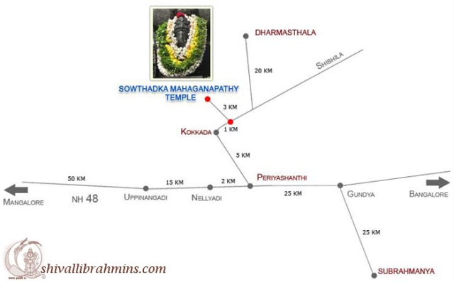 Route map SowthadkaTemple