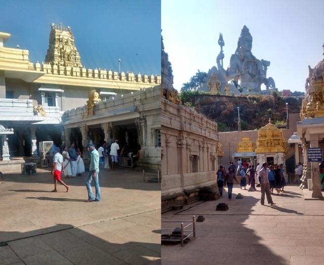 முருடேஸ்வர் - கோவில் வளாகம் - உள்ளேயிருக்கும் சன்னதிகள் - வெளியேயிருக்கும் சிவன் சிலை