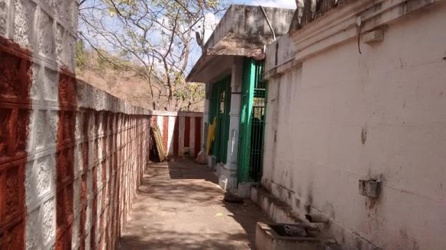 Bharhava Narasimha temple- down hillock-backside view. RHS