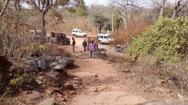 Bharhava Narasimha temple- down hillock-way to up