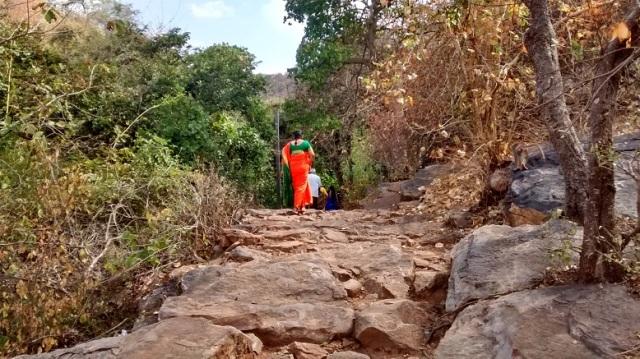 Bharhava Narasimha temple- rough way going up