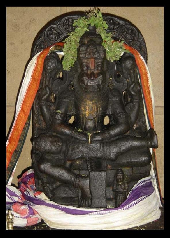 Bharhava Narasimha temple- Vigraha inside