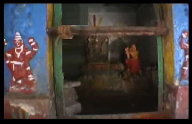 Pavana Narasimha - temple - Garba gruha-narasinha and Krishna-Chaitanya