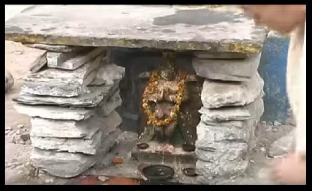 Pavana Narasimha - temple - Garuda -in front-Chaitanya