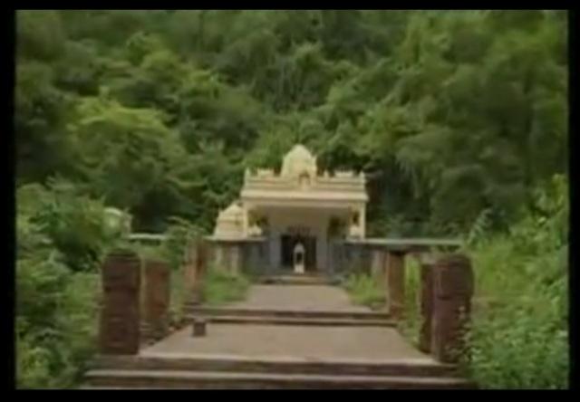 Six pillara before the Karanja Narasimha temple