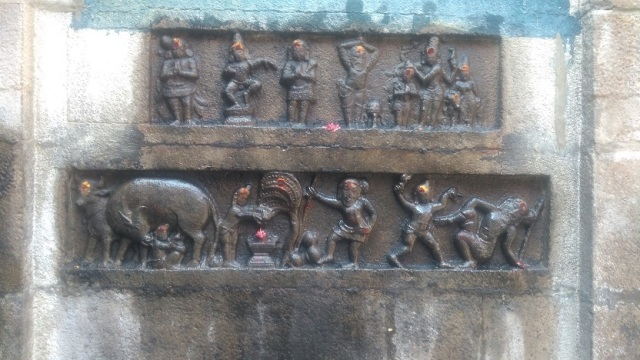 Baktajaneswarar temple - Cow-milk-siva-story-depicted