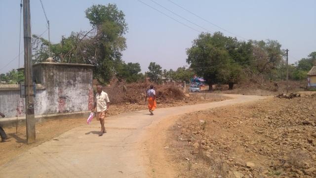 Cncrete road to Perumal temple