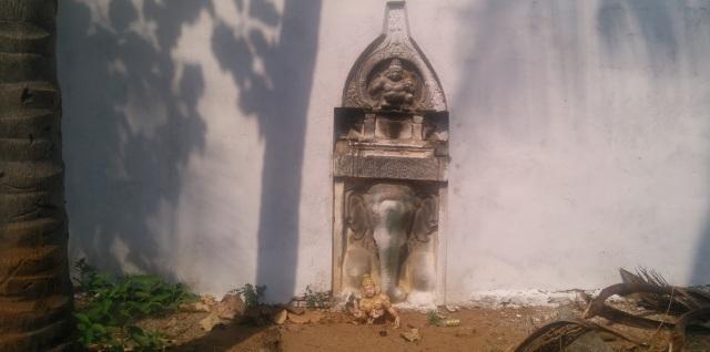 Compund wall constructed and whitewashed- Srikalinarai