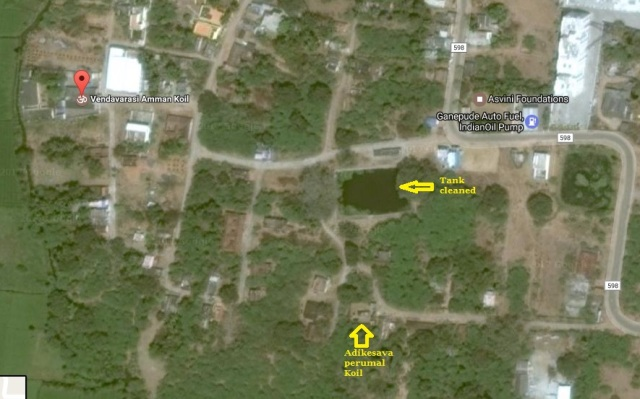 Location of Temple, tank etc