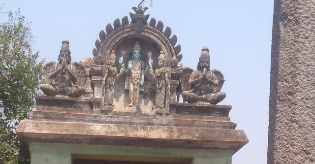 Perumal Koil - Gopura view.Front-top
