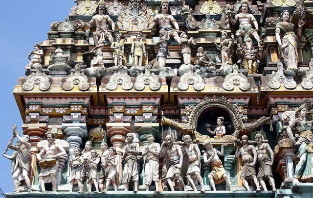 Appar carrying the palanquin of Sundarar