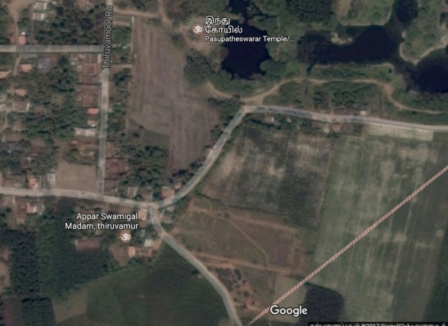 Location of Appar Swamigal Madam, Tiruvamur