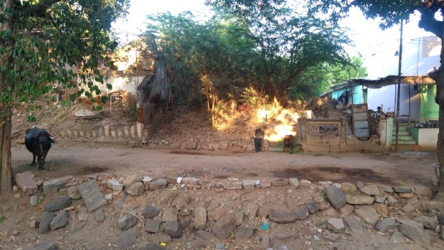 Nerur-2017 - Agraharam - LHS house. dilapated condition