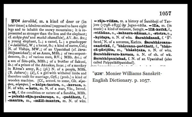 Sarabha - Monier Williams Dictionary