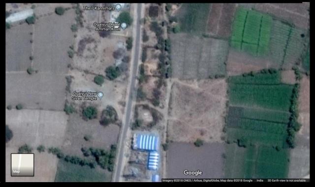 Location of 7-kanni, Unjal, Siva temples, Ogaiyur Village, Villuppuram
