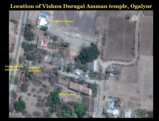Location of Vishnu Dugai Amman Temple, Ogaiyur Village, Villuppuram