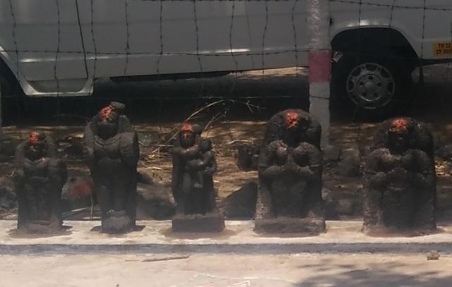 Saptamatra temple -LHS, next five idols- 11