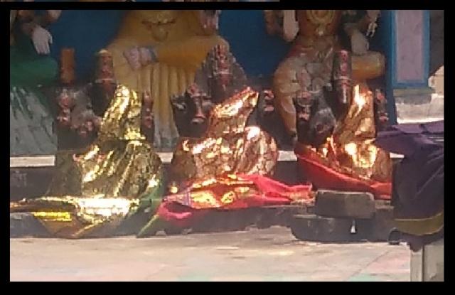 Saptamatra temple -three idols on centre- 4