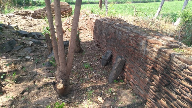 Perumal temple, broken down compound wall visible