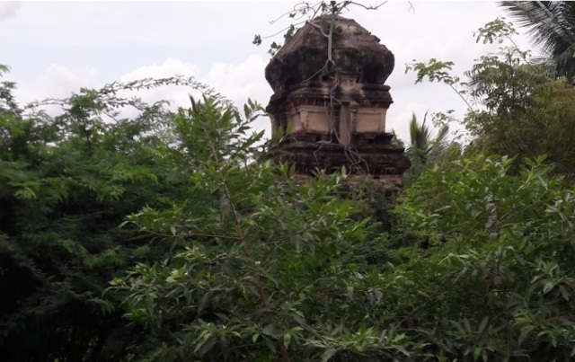 Perumal temple, covered with trees- GOOGLE